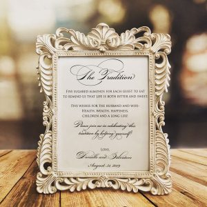 Tradition Baroque Frames available at Amore Bio Confetti