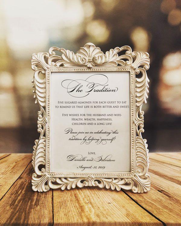 Tradition Baroque Frames available at Amore Bio Confetti