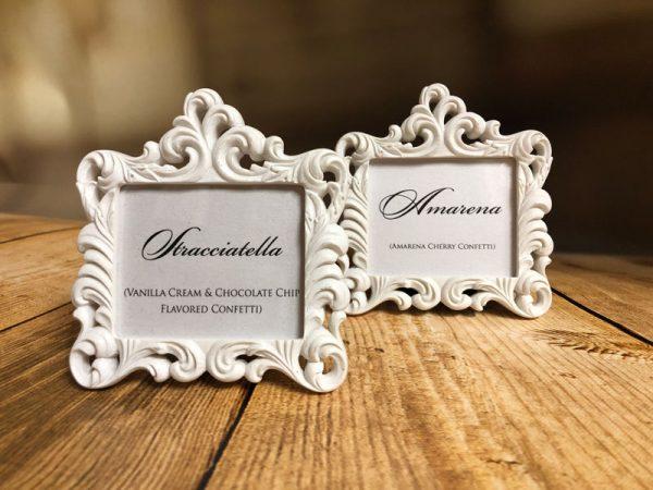 Mini Baroque Frames available at Amore Bio Confetti